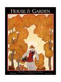 House & Garden Cover - November 1926 Giclée premium par Georges Lepape
