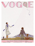 Vogue Cover - September 1928 Giclée premium par Georges Lepape