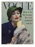 Vogue Cover - September 1956 - Lace and Fur