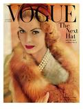 Vogue Cover - August 1957 Giclée premium par Horst P. Horst