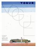 Vogue Cover - June 1930 - Summer Travel Giclée premium par Georges Lepape