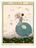Vogue Cover - July 1916 Reproduction d'art par Helen Dryden