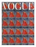Vogue Cover - December 1954 Giclée premium par Clifford Coffin