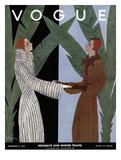 Vogue Cover - December 1931 Giclée premium par Georges Lepape