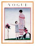 Vogue Cover - August 1925 Giclée premium par André E. Marty
