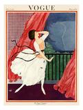 Vogue Cover - June 1921 Giclée premium par George Wolfe Plank