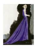 Vogue - March 1934 - Purple Gown