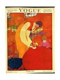 Vogue Cover - October 1918 Giclée premium par Georges Lepape