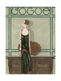 Vogue - February 1925 Giclée premium par Georges Lepape