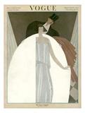 Vogue Cover - March 1922 Giclée premium par Georges Lepape