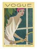 Vogue Cover - July 1927 Giclée premium par Harriet Meserole