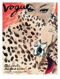 """Vogue Cover - November 1939 - Leopard Love Reproduction d'art par Carl """"Eric"""" Erickson"""