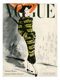 Vogue USA - Couverture de juillet 1947 sur la mode d'automne Reproduction d'art par René Bouét-Willaumez