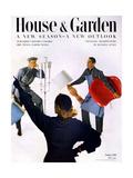 House & Garden Cover - October 1951 Giclée premium par Horst P. Horst
