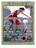 Vogue Cover - May 1924 Giclée premium par André E. Marty
