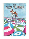 The New Yorker Cover - September 2, 1972 Giclée premium par Charles Saxon