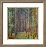 Forêt de pins, 1902 Reproduction giclée encadrée par Gustav Klimt