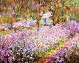 The Artist's Garden at Giverny by Monet