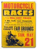 Vintage Motorcycle Racing (Wood Signs)