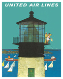 Lighthouses (Vintage Art)