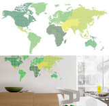Map Wall Stickers