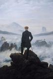 Wanderer Above the Sea of Fog by Friedrich