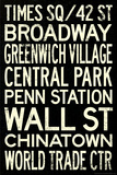 Subway Station Signs