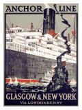 Liaison Glasgow- New York Giclée par Kenneth Shoesmith