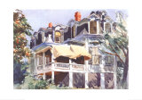 The Mansard Roof, c.1923 Reproduction d'art par Edward Hopper