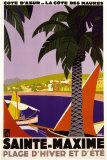 Sainte-Maxime Poster par Roger Broders
