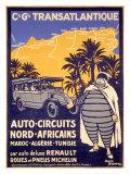 Poster Tour d'Afrique du Nord Pneus Michelin Giclée par Bernard Villemot