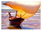 Bateau de pêche Reproduction d'art par Arthur Rider