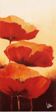 Three Red Poppies I