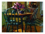 Lilacs and Green Chairs