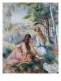 Dans le pré Giclée par Pierre-Auguste Renoir