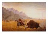 The Buffalo Hunter Giclée par Seth Eastman