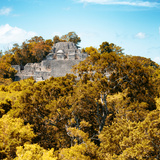 ¡Viva Mexico! Square Collection - Mayan Pyramid of Calakmul with Fall Colors II