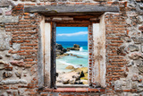 ¡Viva Mexico! Window View - Isla Mujeres Coastline Papier Photo par Philippe Hugonnard