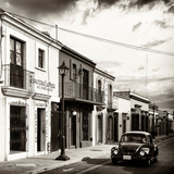 ¡Viva Mexico! Square Collection - Colorful Facades and Black VW Beetle Car V