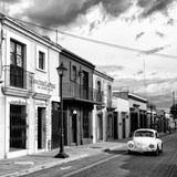 ¡Viva Mexico! Square Collection - Colorful Facades and White VW Beetle Car V