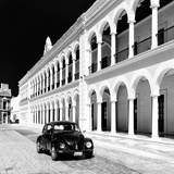 ¡Viva Mexico! Square Collection - Black VW Beetle in Campeche III