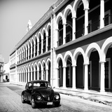 ¡Viva Mexico! Square Collection - Black VW Beetle in Campeche