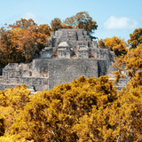 ¡Viva Mexico! Square Collection - Mayan Pyramid of Calakmul with Fall Colors