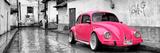 ¡Viva Mexico! Panoramic Collection - Deep Pink VW Beetle Car in San Cristobal de Las Casas