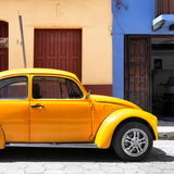 "¡Viva Mexico! Square Collection - ""15 Street"" Dark Yellow VW Beetle Car"