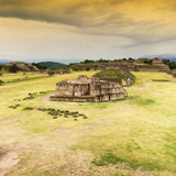 ¡Viva Mexico! Square Collection - Ruins of Monte Alban at Sunset I