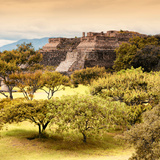 ¡Viva Mexico! Square Collection - Pyramid Maya of Monte Alban with Fall Colors II