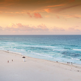 ¡Viva Mexico! Square Collection - Ocean View at Sunset in Cancun II