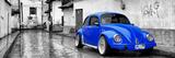 ¡Viva Mexico! Panoramic Collection - Royal Blue VW Beetle Car in San Cristobal de Las Casas
