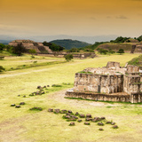 ¡Viva Mexico! Square Collection - Ruins of Monte Alban at Sunset